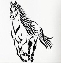 Shiping livre diy Animais Run Cavalo Mustang Adesivo Decalque Da Parede da Sala Adesivos de Parede Removível quarto Decalque decoração