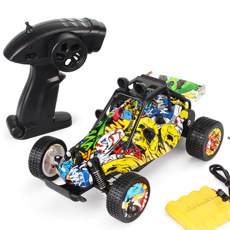 RC Car Rock Buggy Toys for Children 1/20 2.4GHz 15Km/h Scale High-performance High Speed Graffiti Drift Remote Control Car GiftsRC Car Rock Buggy Toys for Children 1/20 2.4GHz 15Km/h Scale High-performance High Speed Graffiti Drift Remote Control Car Gifts