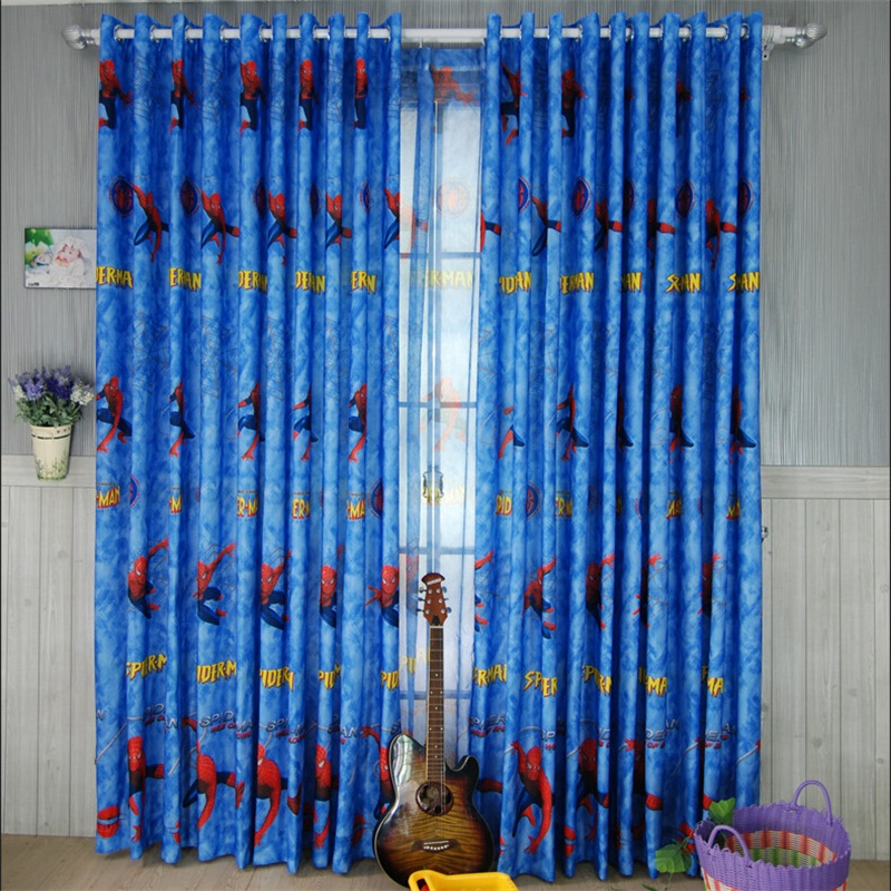 Europe style spider man pattern curtains for kids room living room sitting room bedroom cartoon