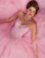 2018 Cheap Quinceanera Gowns Debutante Sweet 16 Princess Pink Aqua Light Blue White Online Ball Gown mother Dress for 15 Years