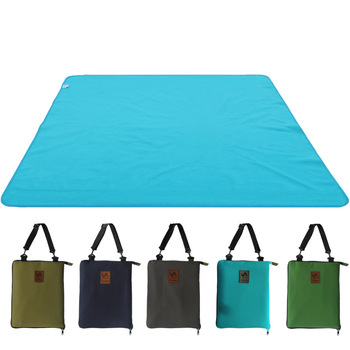 LK964 Portabe Foldable Camping Mat Backpack Damp-proof Mattress Outdoor Polyester Picnic Mat with Odorless Insect Repellant