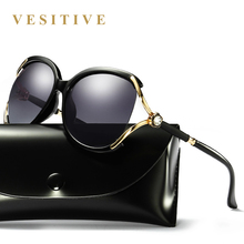 2017 Brand design Women Polarized Sunglasses Cat Eye Sunglass female Oversize sun glasses diamond Eyewear oculos