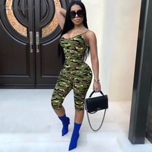 RLMABABY Camouflage Spaghetti Strap Sexy Jumpsuit Summer V Neck Sleeveless Military Print Streetwear Rompers Womens Jumpsuit