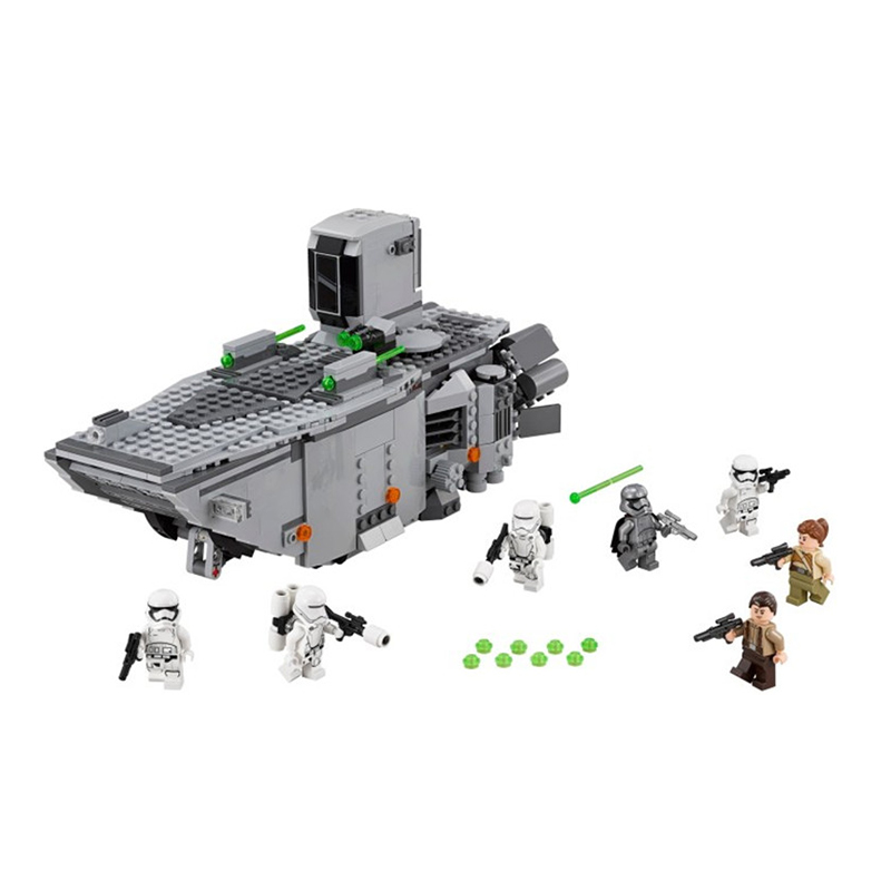 845pcs Star Wars First Order Transporter assembled building block Bricks Compatible With LeGOINGS 75103 TOYS for children lepin 05003 star wars first order transporter building block 845pcs diy educational toys for children compatible legoe