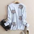 Cachemira Suéter de Lana Para Mujer de Moda 2015 de Otoño e Invierno Del Suéter y Jerseys Caliente Grueso Suéter Bordado