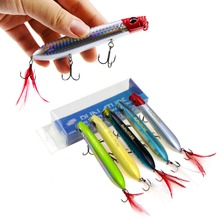 Runature Snake Popper Fihing Lure wobblers 3D Eyes 105mm 16g/1pc French VMC hooks 5 Colors  Artificial Bait Fishing Tackle