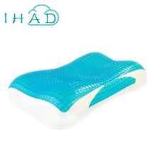 Thermostatic Massage GEL Memory Pillow for summer health care Neck Pillow Breathable Comfortable sleep slow rebound memory foam