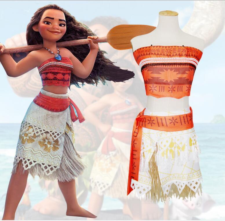 Aliexpress.com : Buy Moana Party Dress Cosplay Costume ...