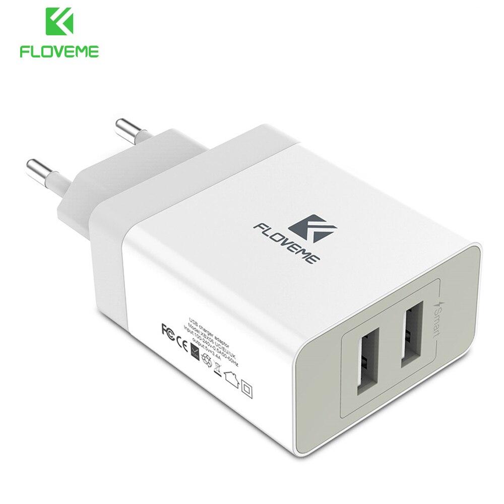 Floveme 2 Порты USB Зарядное устройство 5 В 3.4A Портативный путешествия Зарядные Устройства Мобильный телефон USB Зарядное устройство для iPhone ноутб…