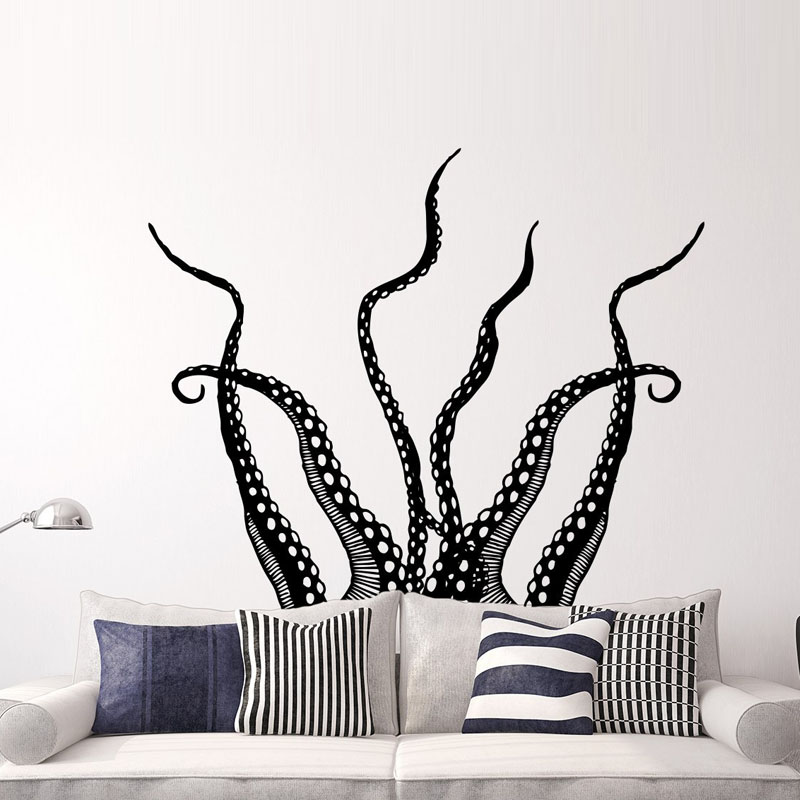 Octopus Tentacles Wall Stickers Home Decor Living Room Sticker Decorations For Walls Aniamls Wall Decals