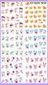 6 pack/lote GLITTER DECAL agua NAIL ART NAIL etiqueta de conejo de pascua SY1629-1634