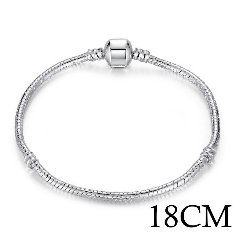 5 стиль 925 серебряных любовь цепи змейки и браслет 16 см- 21 см браслеты омар PA1104 - Окраска металла: 18cm Length