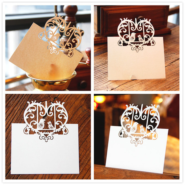 Blank Thank You 3D Laser Cut Wedding Invitation RSVP Cards Small Love Message Gift Postcards Birthday With Envelope