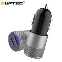 SUPTEC USB Car Charger Universal Mobile Phone 2A Dual USB Fa