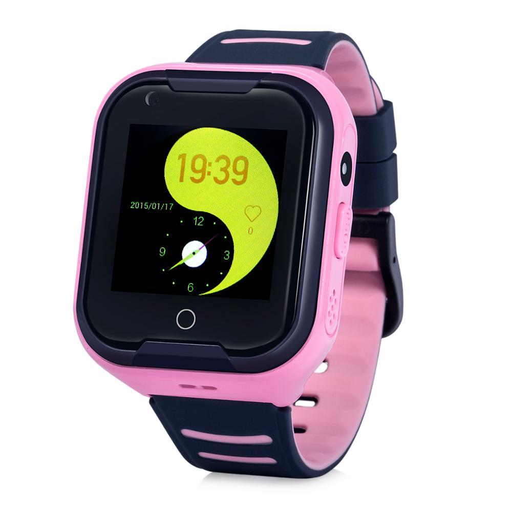 Wonlex KT11 date 4G montre intelligente pas cher résistance à l'eau IP67 montre de téléphone intelligent avec dispositif GPD pour enfants et adultes (Version EU)