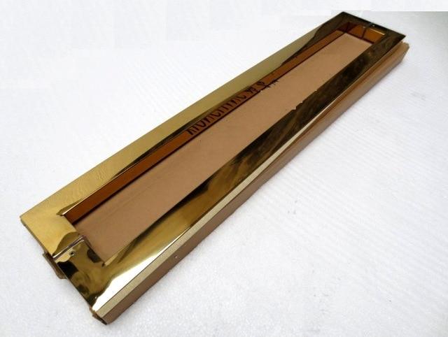 Ktv vetro/legno in acciaio inox ti oro door pull maniglie 600mmKtv vetro/legno in acciaio inox ti oro door pull maniglie 600mm