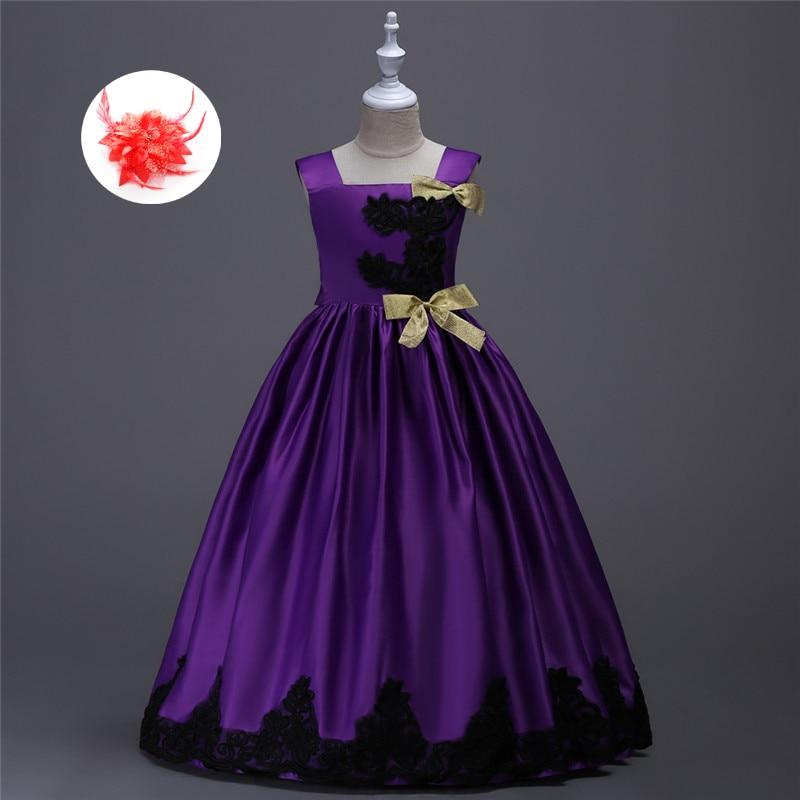 Girls Dresses Children Ball Gown 6 7 8 Birthday Wedding Formal Party ...