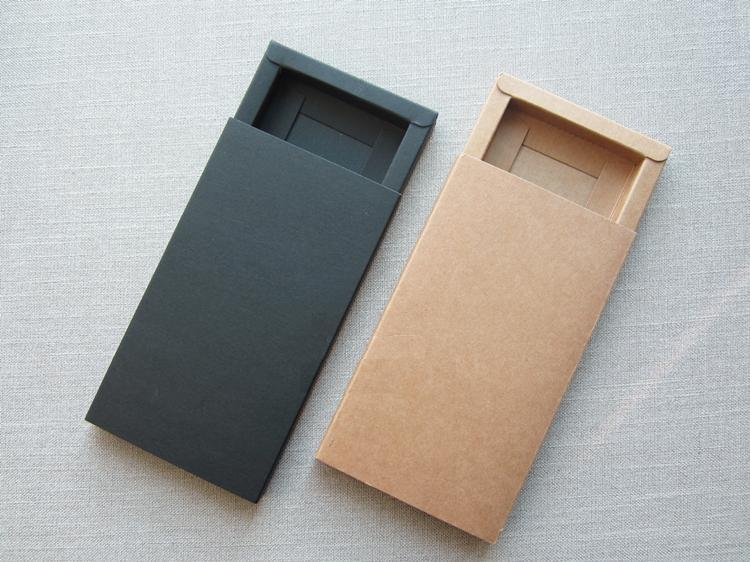 20pcs/lot-166*95*14mm Brown Kraft Paper Boxes Drawer Box Phone Gift Craft Soap Box Jewelry storage box