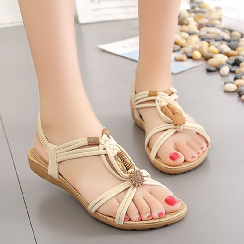 Women Shoes Sandals Women Flip Flops Gladiator Sandals Comfort Flat Summer Sandals For Women Sandalias Mujer 2018 Shoes Woman fashion sandals women flower flip flops summer shoes soft leather shoes woman breathable women sandals flats sandalias mujer x3