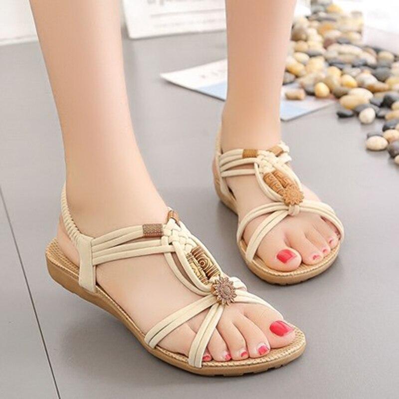 71990449 Cómodas Planas De Para marrón Beige Mujer Zapatos Sandalias 2018 Gladiador  negro Verano fF7xgdwdTq