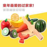 Wooden Kitchen Toys Cutting Fruit Vegetable Play Food Kids Wooden fruit Toy fruit and vegetables food toy