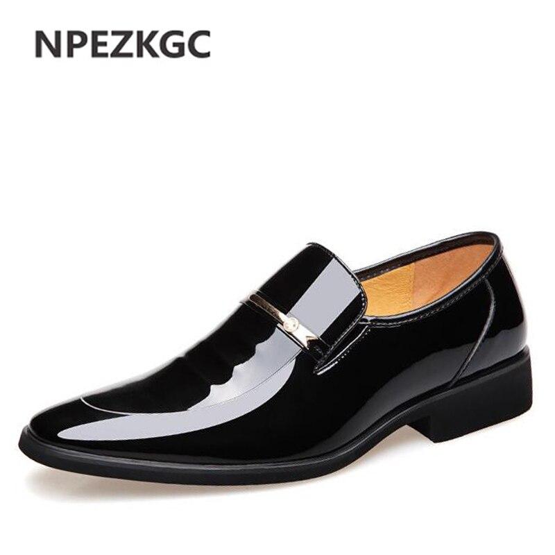 Npezkgc бренд высокое качество Для мужчин Оксфорд Для мужчин Кожаные модельные туфли Обувь модная мужская обувь в деловом стиле Для мужчин пла...