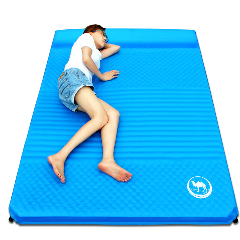 Automatic Inflatable Camping Mat Moistureproof Cushion Splicing Air Mattress Egg Slot Sleeping Pad Tent Mat