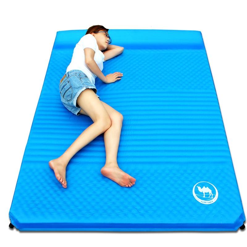 Outdoor font b Camping b font Mat Air Mattress Inflatable Automatic Waterproof Beach Mat Moistureproof Cushion
