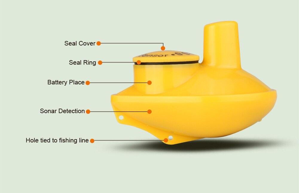 de alarme de peixes sensor findfish recarregável fishfinder