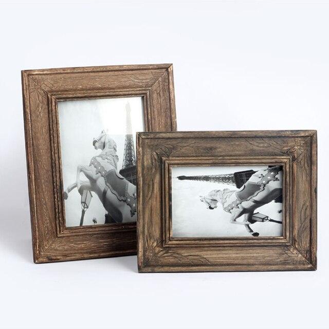 TANGHOME Retro Photo Frame Handmade Solid Wood Frame Creative Gift ...
