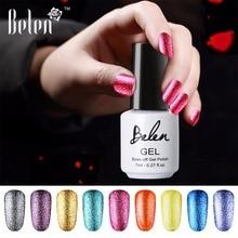 Belen 7 мл Платиновый УФ-гель Сияющий Гель-лак для ногтей долговечный УФ для ногтей гель замачиваемый Светодиодный УФ-цветной гель-лаки для ногтей