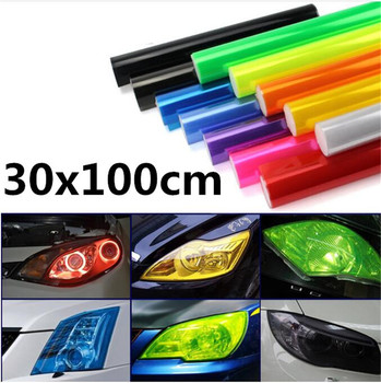 30x100cm Car headLight lamp Vinyl Film Sticker Decal for Volkswagen vw Touran 1.4 Fox 1.2 Touareg2 GolfA5 GT MK7 Golf 7 image