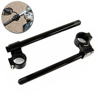 COHB 041B BK Black Motorcycle 41MM CNC High Clip Ons On Handlebars Higher Raised Clip For