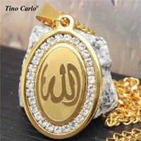 4 Tasarım Marka Müslüman Allah Çiçek Kolye Ramazan Arasında Paslanmaz Çelik İslam Allah Kur'an Allah Allah Kolye Takı LQ1629