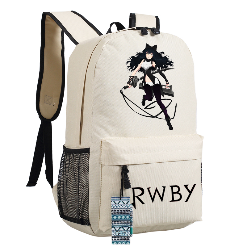 High Quality Anime Rwby Ruby Rose Cosplay Women Printing Backpack Canvas School Bags Fashion Laptop Female Backpack Rucksack #3