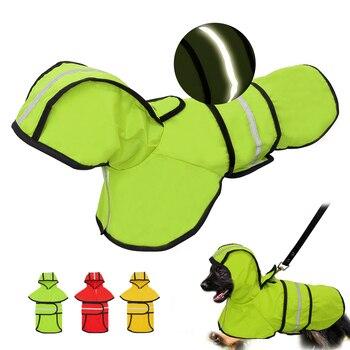 Cane Impermeabile Riflettente Pioggia Giacca Impermeabile Vestiti Dell'animale Domestico di Sicurezza Indumenti Impermeabili Per Pet Cani di Piccola Taglia Media Puppy Doggy Verde Rosso S-2XL