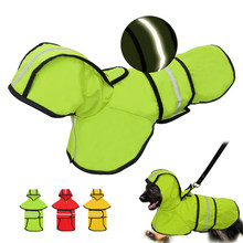 Dog Raincoat Reflective Rain Jacket Waterproof Pet Clothes Safety Rainwear For Pet Small Medium Dogs Puppy Doggy Green Red S-2XL(China)