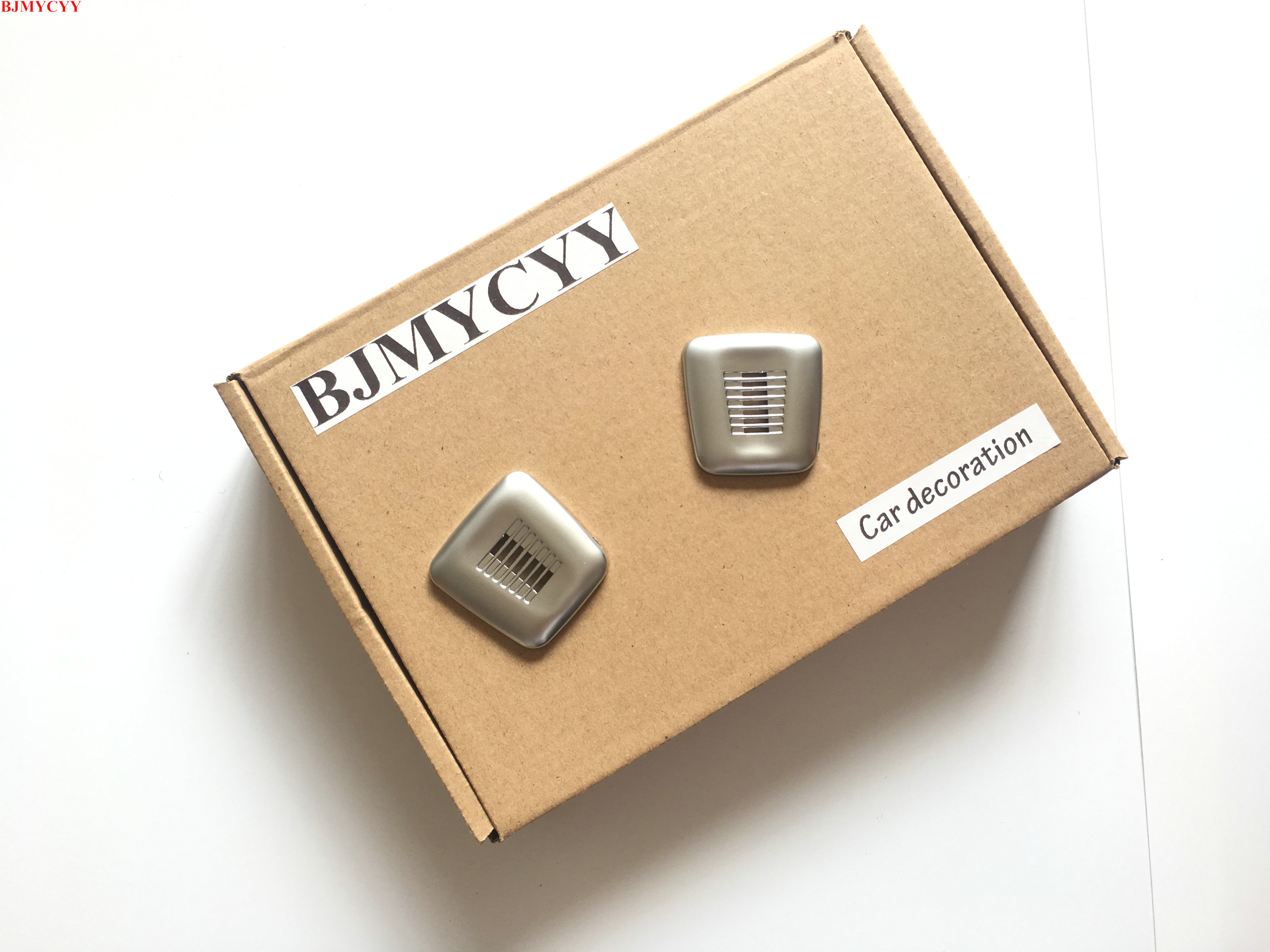 BJMYCYY 2Pcs speaker coveragecar accessories For <font><b>BMW</b></font> F20 118i <font><b>116i</b></font> X3 X5 GT X4 X6 2014 2015 2016 image