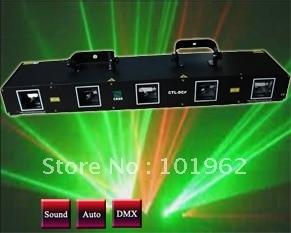 laser light 5 head red+green dj equipment  DJ disco stage lighting show laser head 440 bdp4110 sf bd414