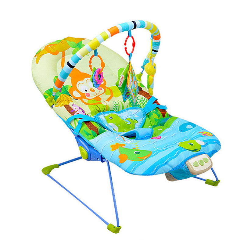 Baby Music Vibration Rocking Chair Toys Comfort Play Music Baby Cradle Swing Chair Sleep Lounge Wholesale music note party swing dress