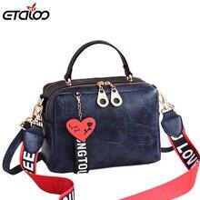 Kadın çanta PU deri Tote çanta Retro omuz askılı postacı çantaları Tote alışveriş çantası Femme ana kesesi