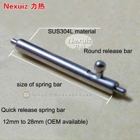 Wholesales High Quality Quick Release 304 Stainless Steel Watch Spring Bars Watches For Parts 10pcs Per