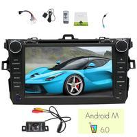 Android 6,0 автомобильный стерео для Toyota Corolla 2012 2013 в консоль автомобильный dvd плеер емкостный экран GPS навигация Wifi задняя камера