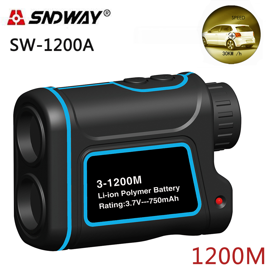 SNDWAY SW-1200A Telescope laser distance meter range finder rangefinder hunting Golf monocular 1200m trena laser measure Diastim 1200m powerful 6x25mm long distance measure 1200m golf laser range finder