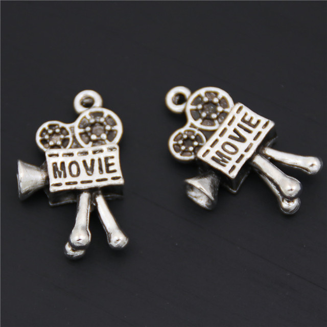 Us 1 59 9 Off 5pcs Antique Silver Plated Movie Projector Charms Zinc Alloy Pendants For Jewelry Making Diy Handmade Craft A2584 In Charms From