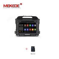 Groothandelsprijs! 1024*600 Android 7.1 auto dvd-speler kia sportage r 2011 2012 2013 2014 2015 auto head unit gps navigatie wifi BT