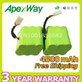 Apexway 2PCS 4500mAh 7.2V  battery pack for Neato XV-21 XV-11 XV-15 XV-14 robot robotic vacuum cleaner accessory xv battery
