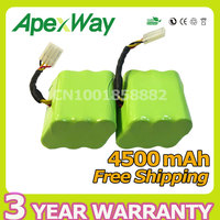 2PCS 4500mAh 7 2V Battery Pack For Neato XV 21 XV 11 XV 14 XV 15