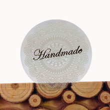 80pcs/lot Vintage White Round Lace Handmade Bronze Sealing Sticker Creative Stationery Lable