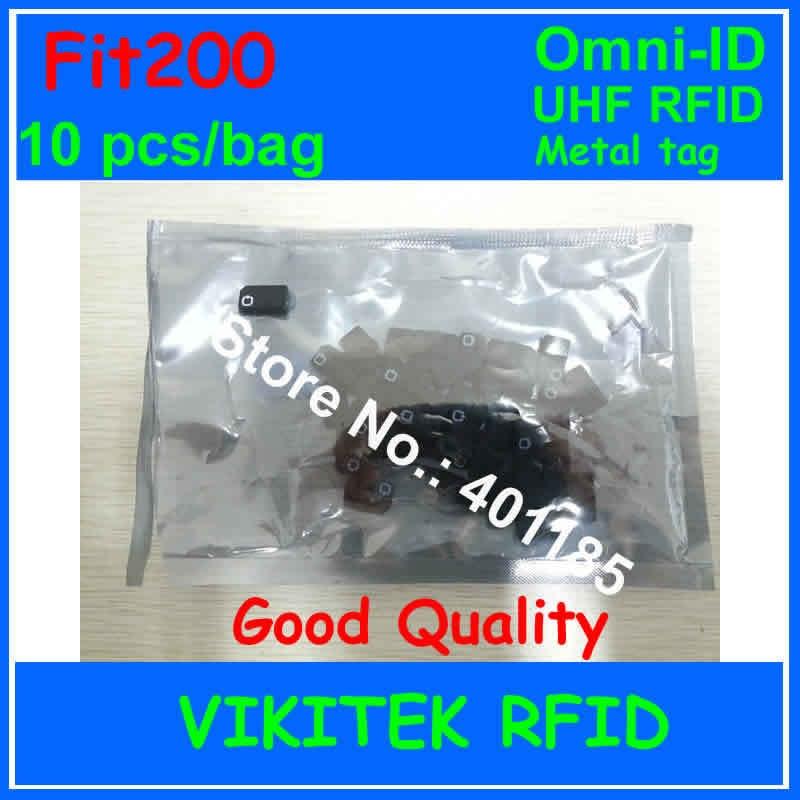 Omni-ID Fit 200 UHF RFID  metal tag 10 pcs per bag 915M EPC C1G2 ISO18000-6C Fit200 small metal tools Medical device tracking. metal material ac110v ac220v 400kg per
